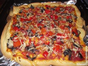 Una de las pizzas